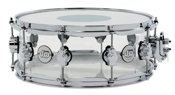 Snaredrums Dw ACRY 14X8 SMOKED ACRYLIC - Transparent