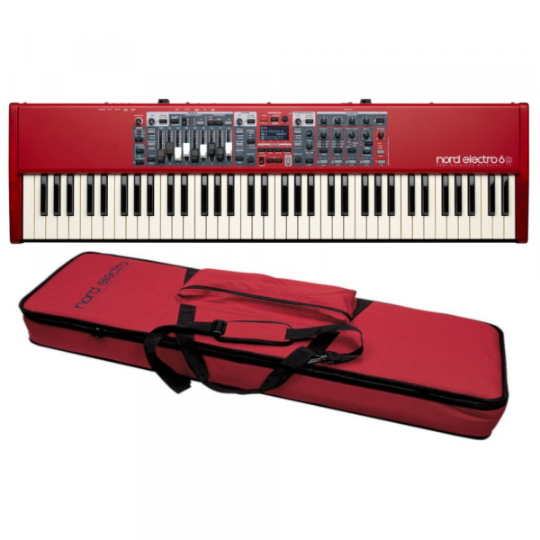 Stagepiano  Nord ELECTRO 6D 73 Rouge + Housse NORD SOFTCASE2 - Rouge