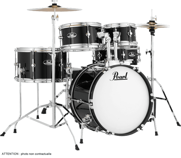 Fusion drumstel  Pearl KIT JUNIOR 16 - Jet black
