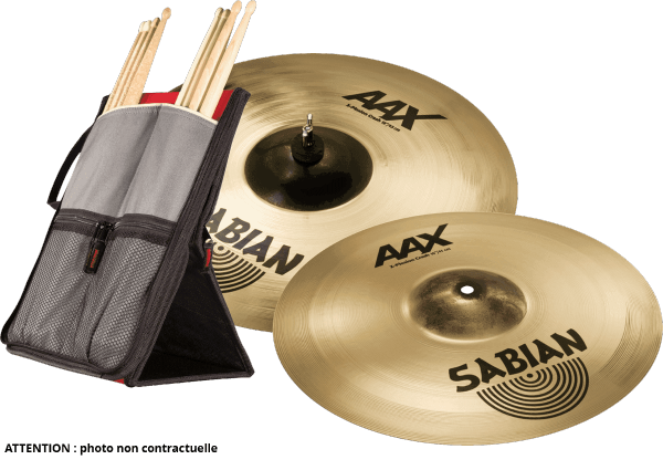 Bekkens set Sabian PACK CRASH XPLOSION 16 + 18 + STICKFLIP GIGBAG