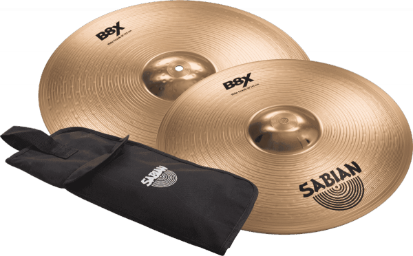 Bekkens set Sabian PACK THIN CRASH 16 + 18 + STICKS GIGBAG