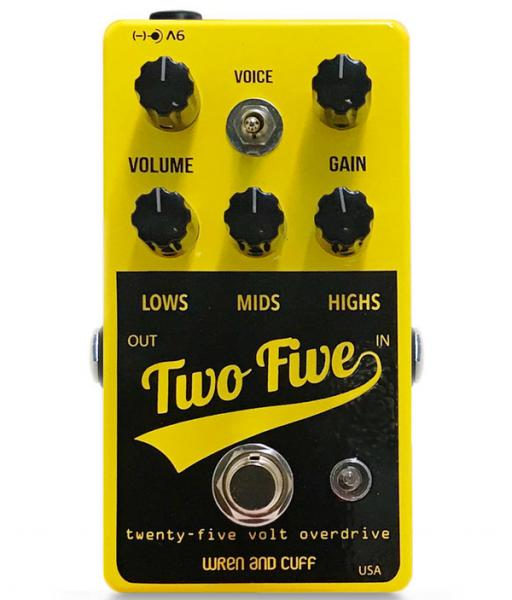 Overdrive/distortion/fuzz effectpedaal Wren and cuff Two Five Drive Boost