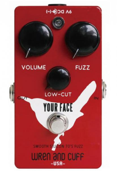 Overdrive/distortion/fuzz effectpedaal Wren and cuff Your Face 70's Silicon Fuzz
