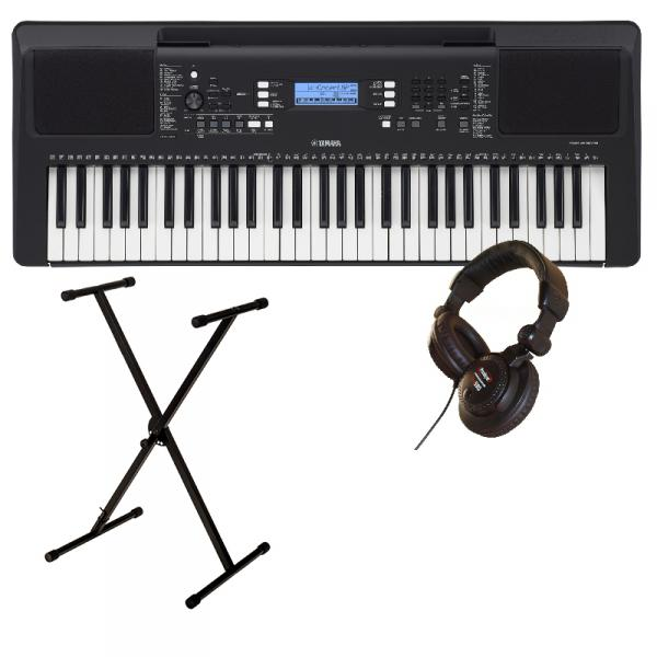 Entertainerkeyboard  Yamaha PSR E373 + Stand XH 6100 + Casque PRO580